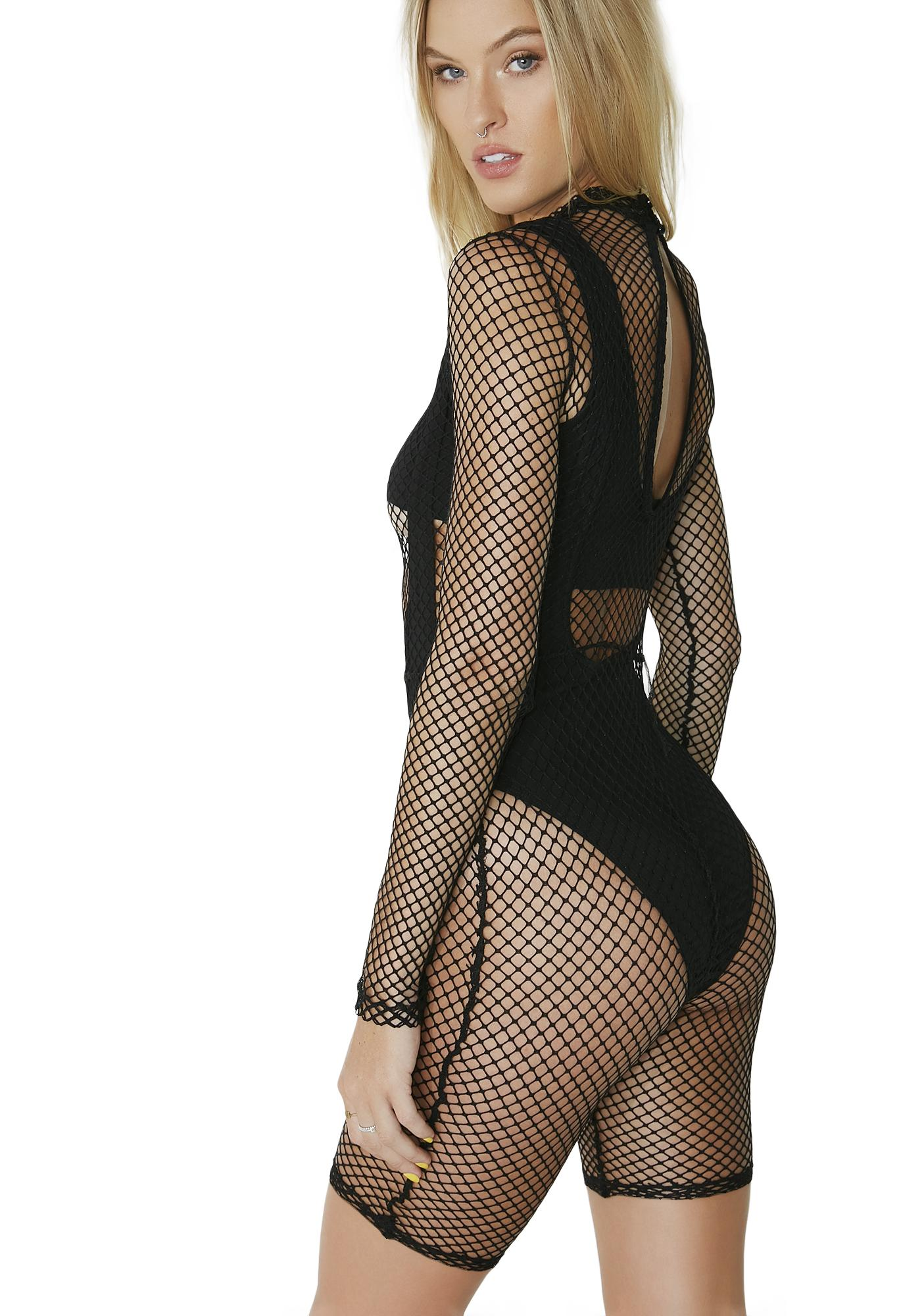 Into The Groove Fishnet Bodysuit