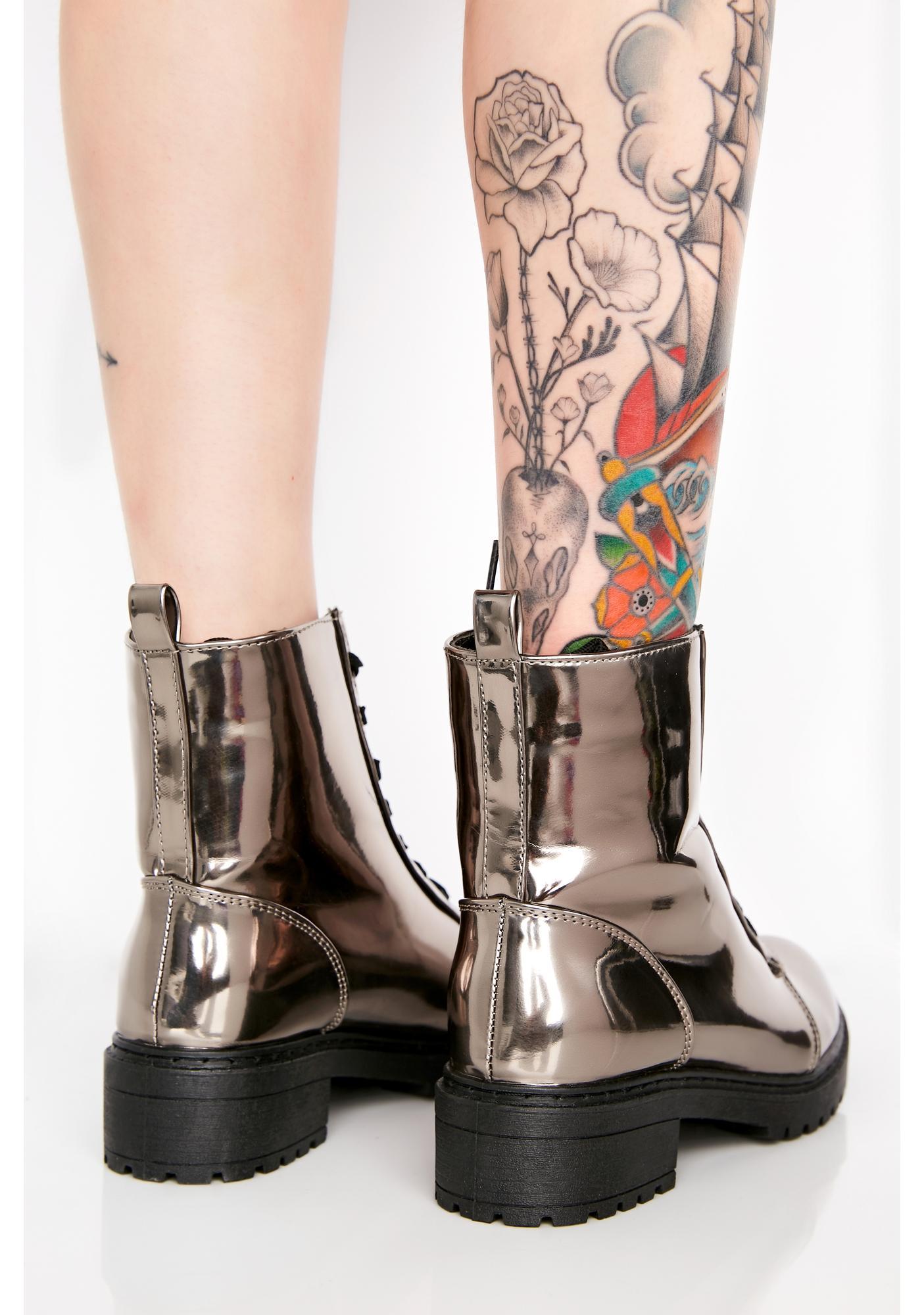 Smokey Lunar Landings Combat Boots