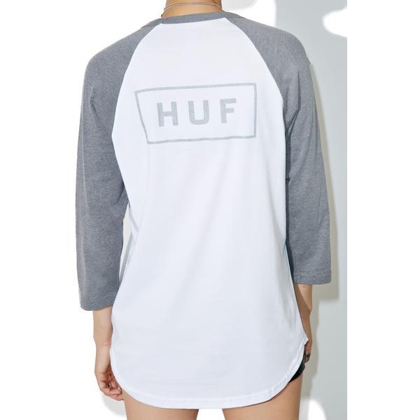 HUF Reflective Bar Logo Raglan Tee