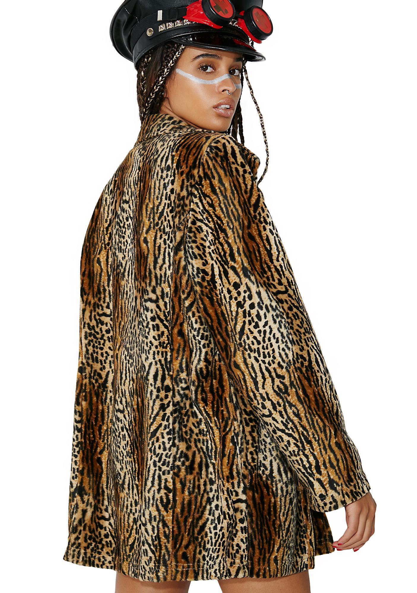 Vintage La Fete Leopard Fur Coat