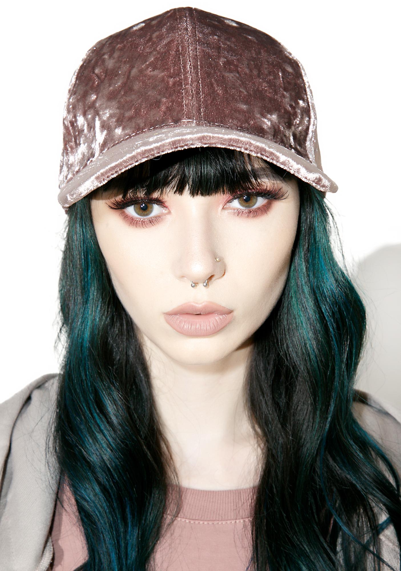 Mauve Velvet Baseball Hat