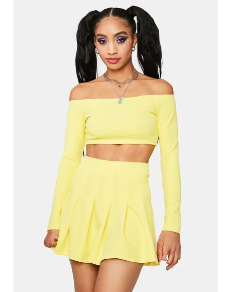 Sunny Cutie Confessions Pleated Mini Skirt Set