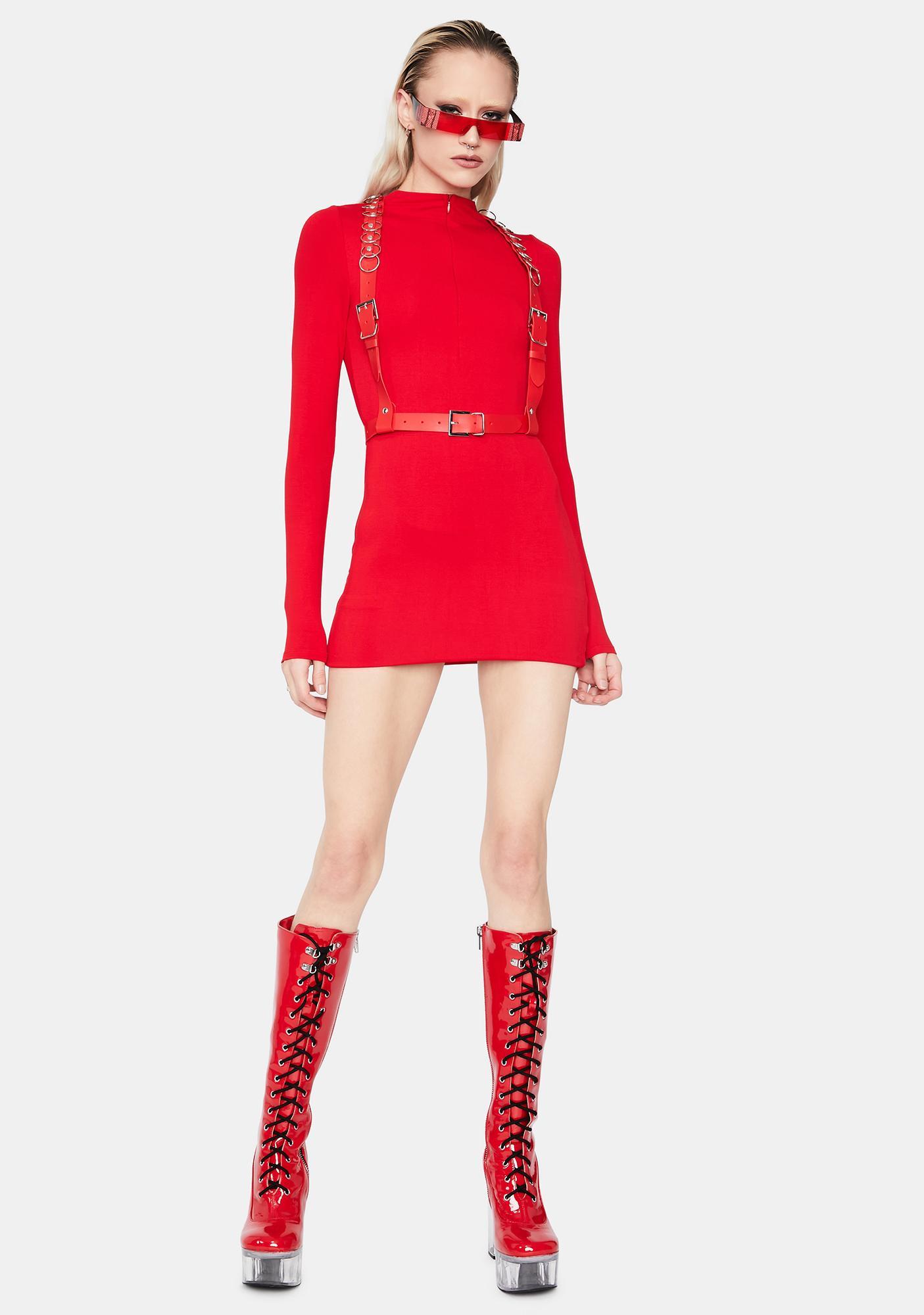 Same Page Long Sleeve Mini Dress