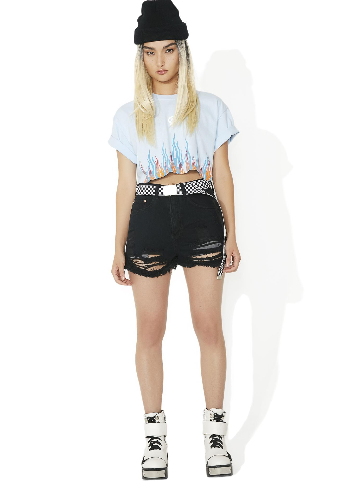 Night Vice Distressed Shorts