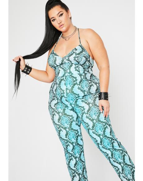 Major Stare Down Snakeskin Jumpsuit