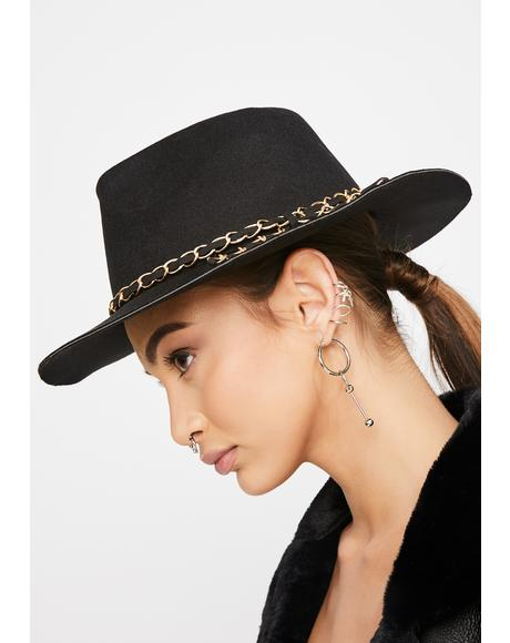 So Chic Flat Brim Hat