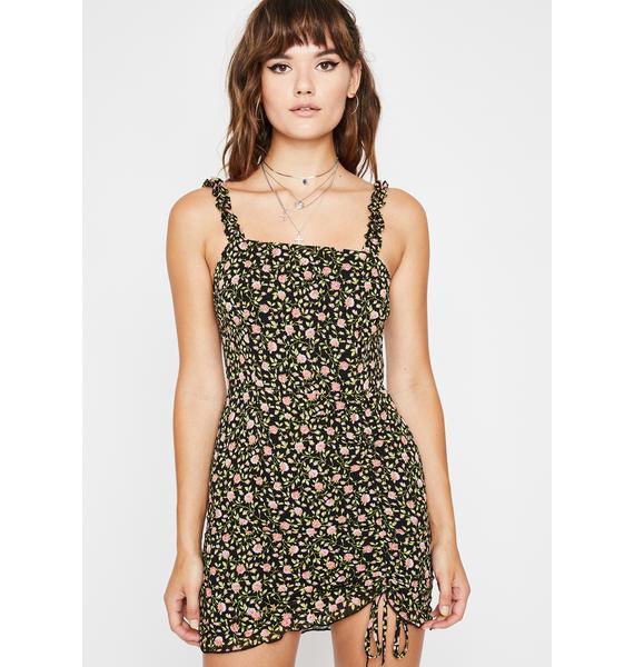 Lunar Sunny Gardens Ruched Dress