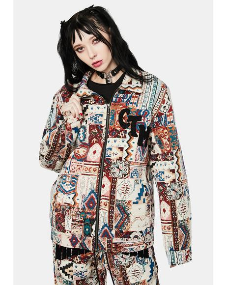 Rug Dealer Patchwork Jacket