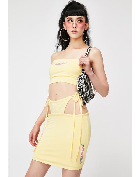 Yellow OG G String Mini Skirt