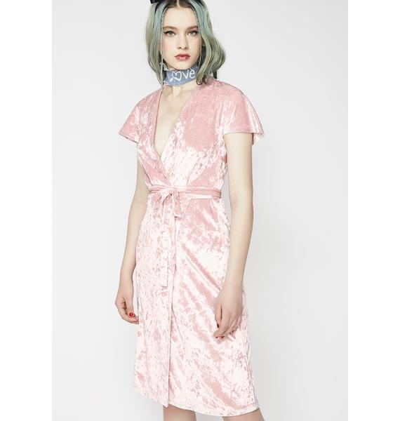 Flirt Back Wrap Dress