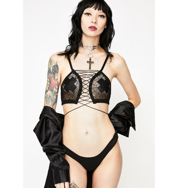 Widow Kiss The Dark Web Mesh Bra