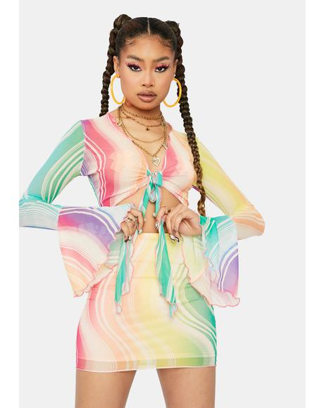 Trippy Lost In A Trance Swirl Mesh Set