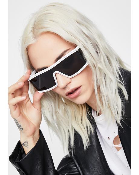 Saintly Scarlet Starlet Shield Sunglasses