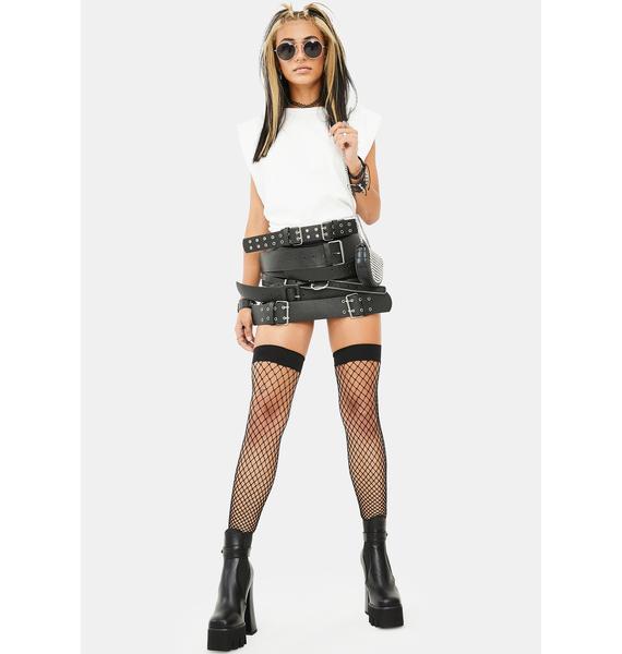 Kiki Riki Watch Out Belted Skirt