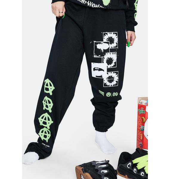 Learn To Forget X Champion Anarchy Sunflower Sweatpants