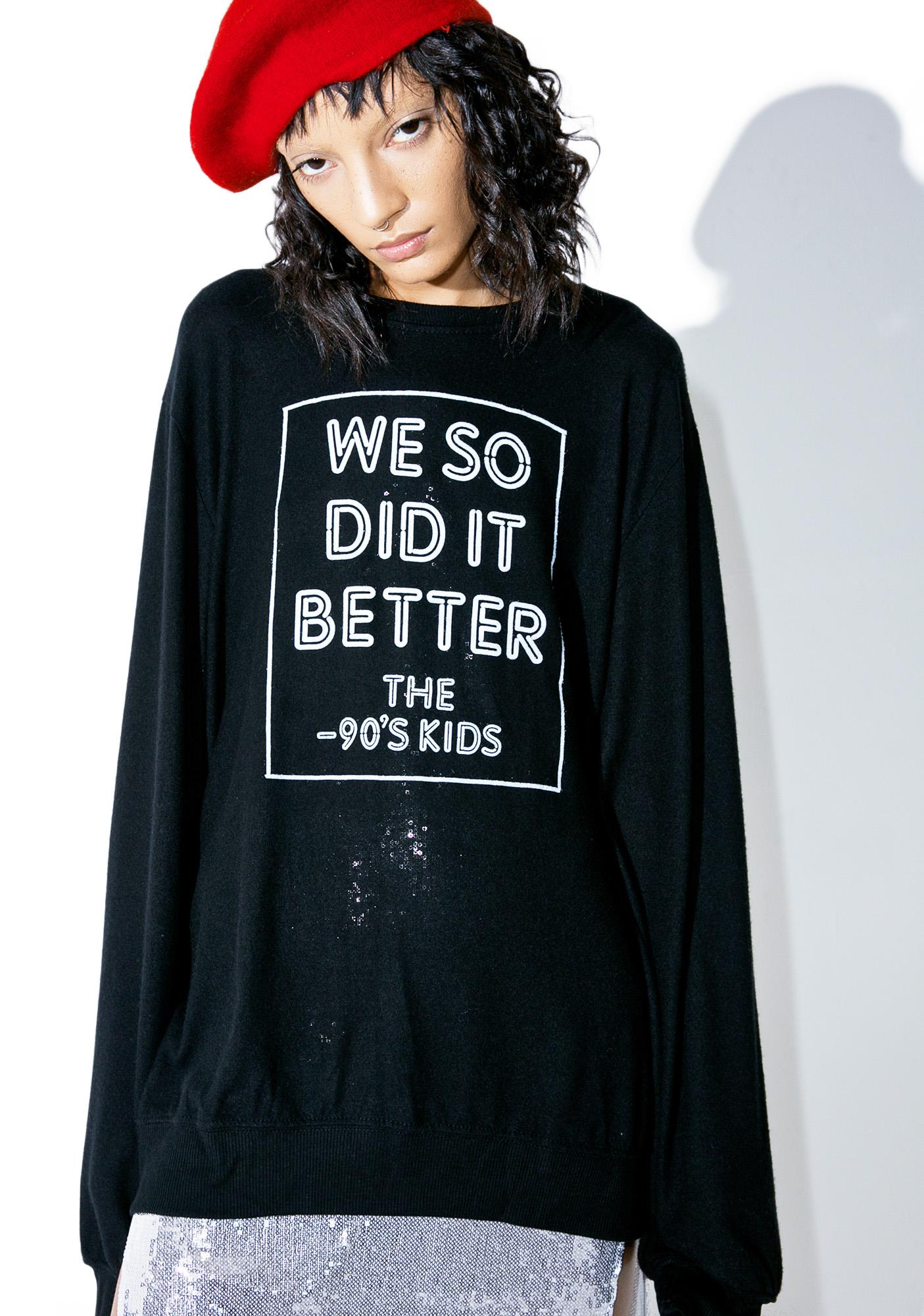 Social Decay 90s Kids Pullover Sweatshirt
