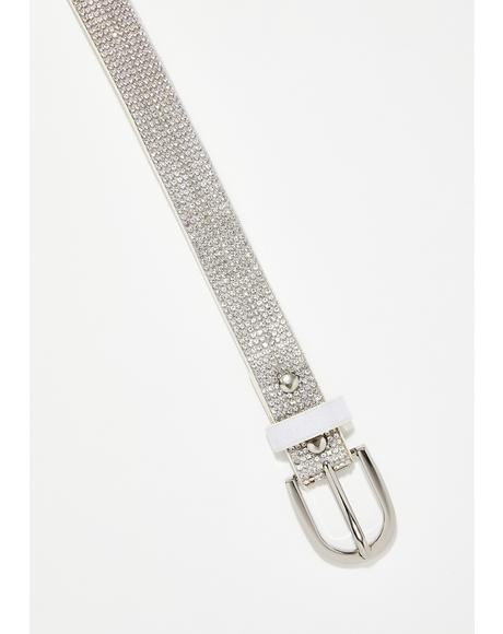 Eye Catcher Rhinestone Belt