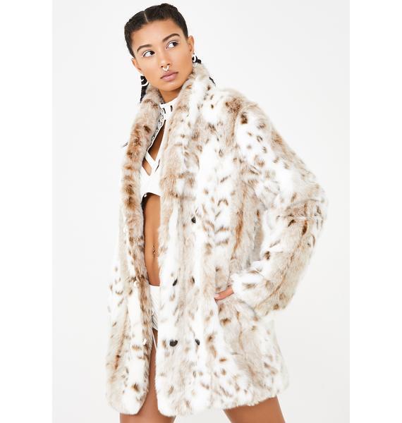 dd2608afec7e SpiritHoods Siberian Snow Leopard Faux Fur Coat | Dolls Kill