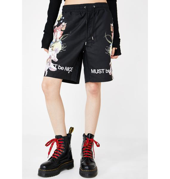 RIPNDIP Heavenly Bodies Nylon Shorts