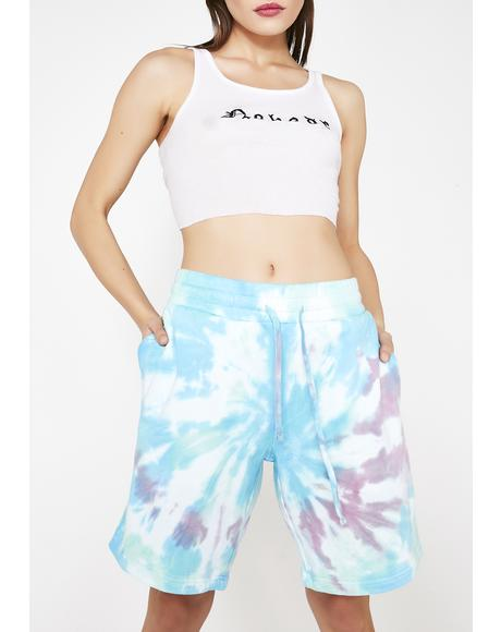 Kaleidic Peek A Nermal Sweat Shorts