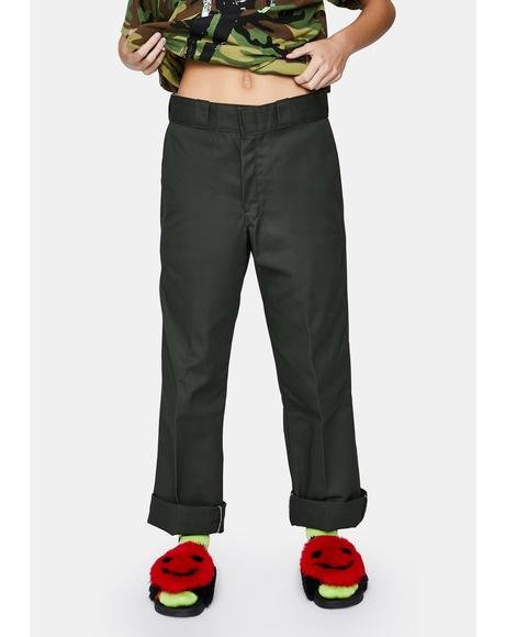 Olive Green Original 874 Work Pants