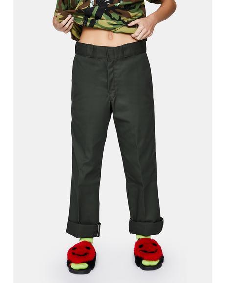 Olive Green Original 874 Work Pants
