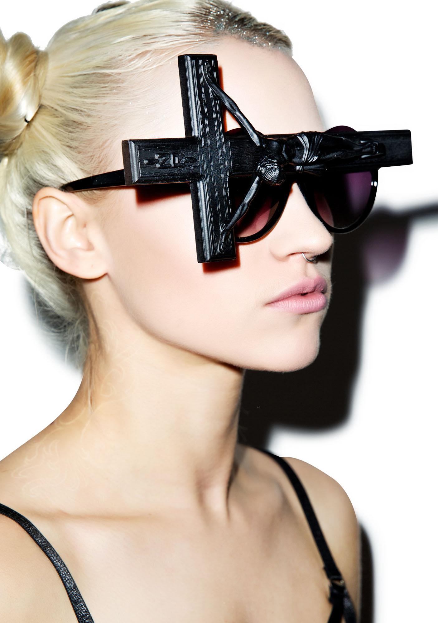 Gasoline Glamour Jesus Throwing Shade Sunglasses