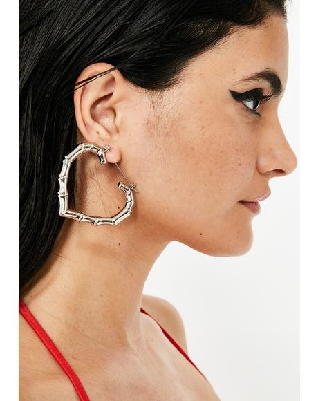 Platinum Super Fly Bamboo Hoops