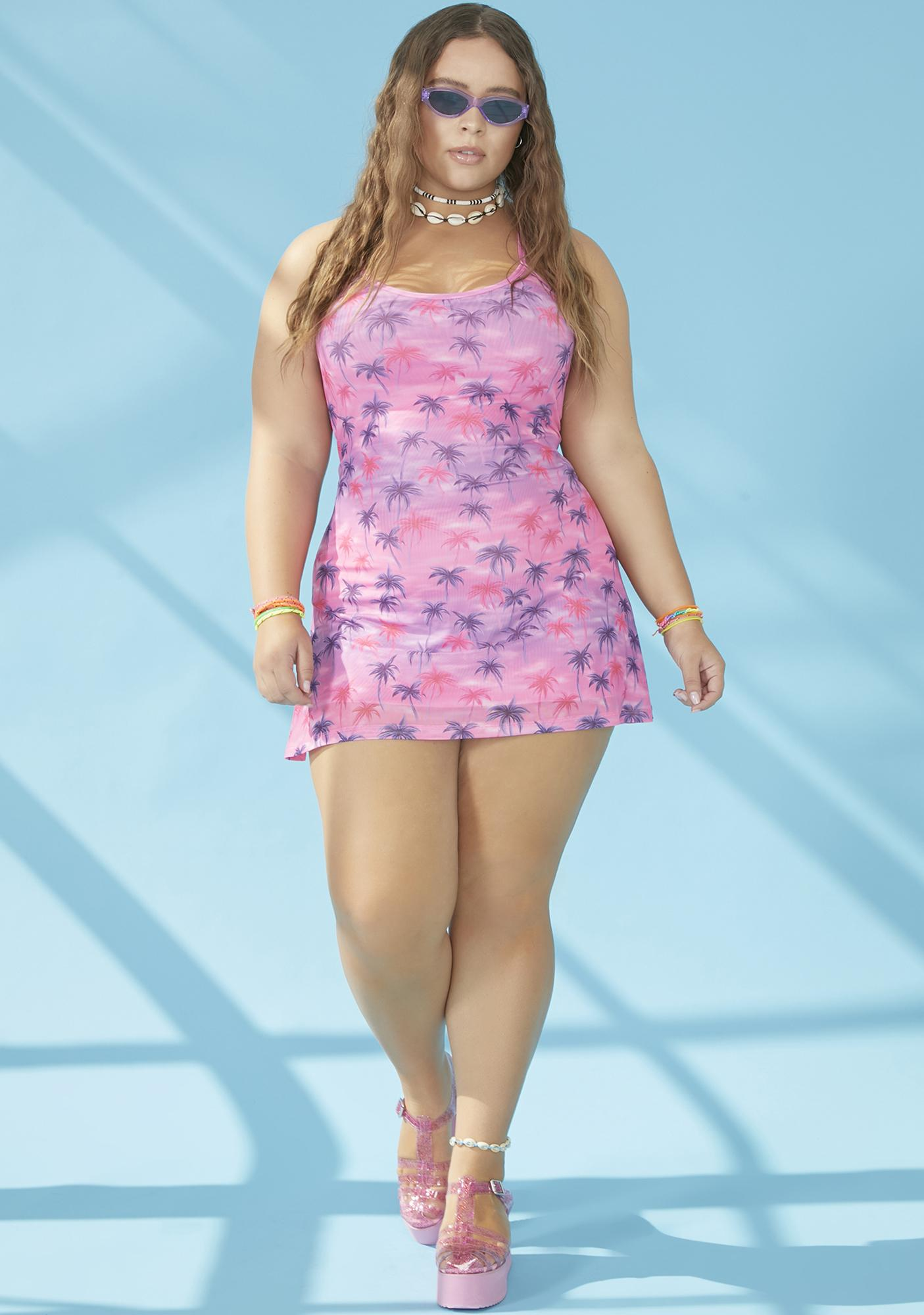 dELiA*s by Dolls Kill Say Aloha For Now Mesh Dress