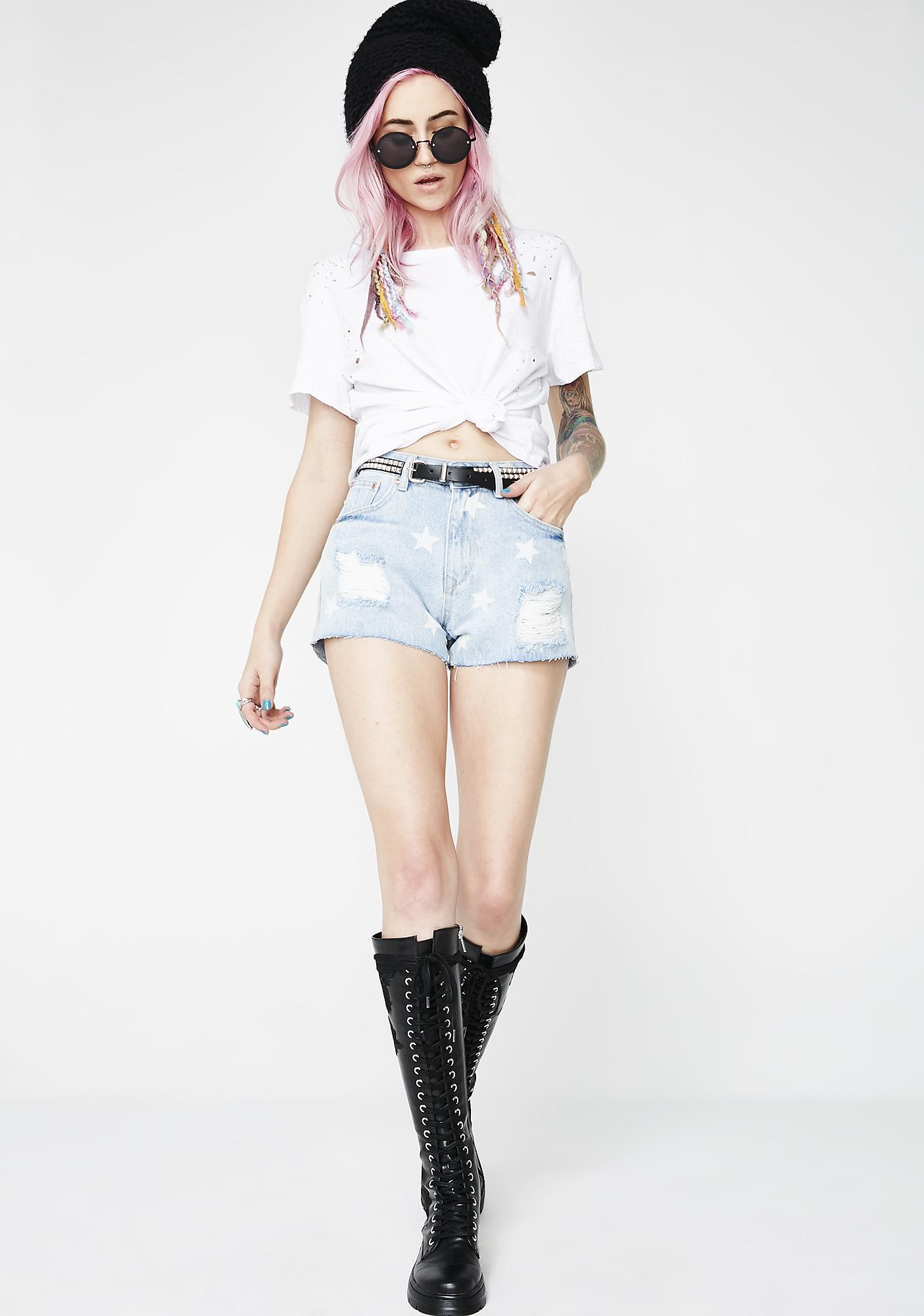 Star Gazin' Denim Shorts