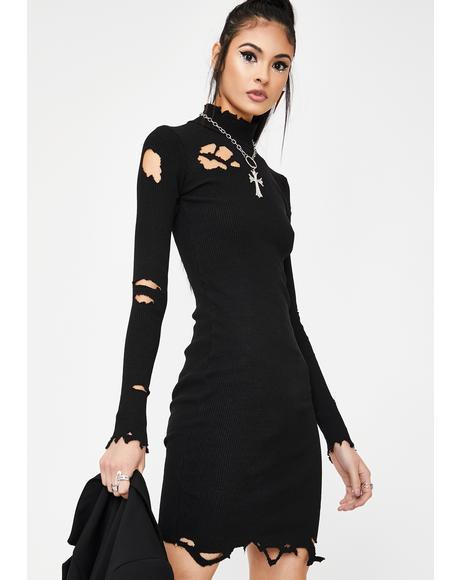 Weathered Woman Mini Dress