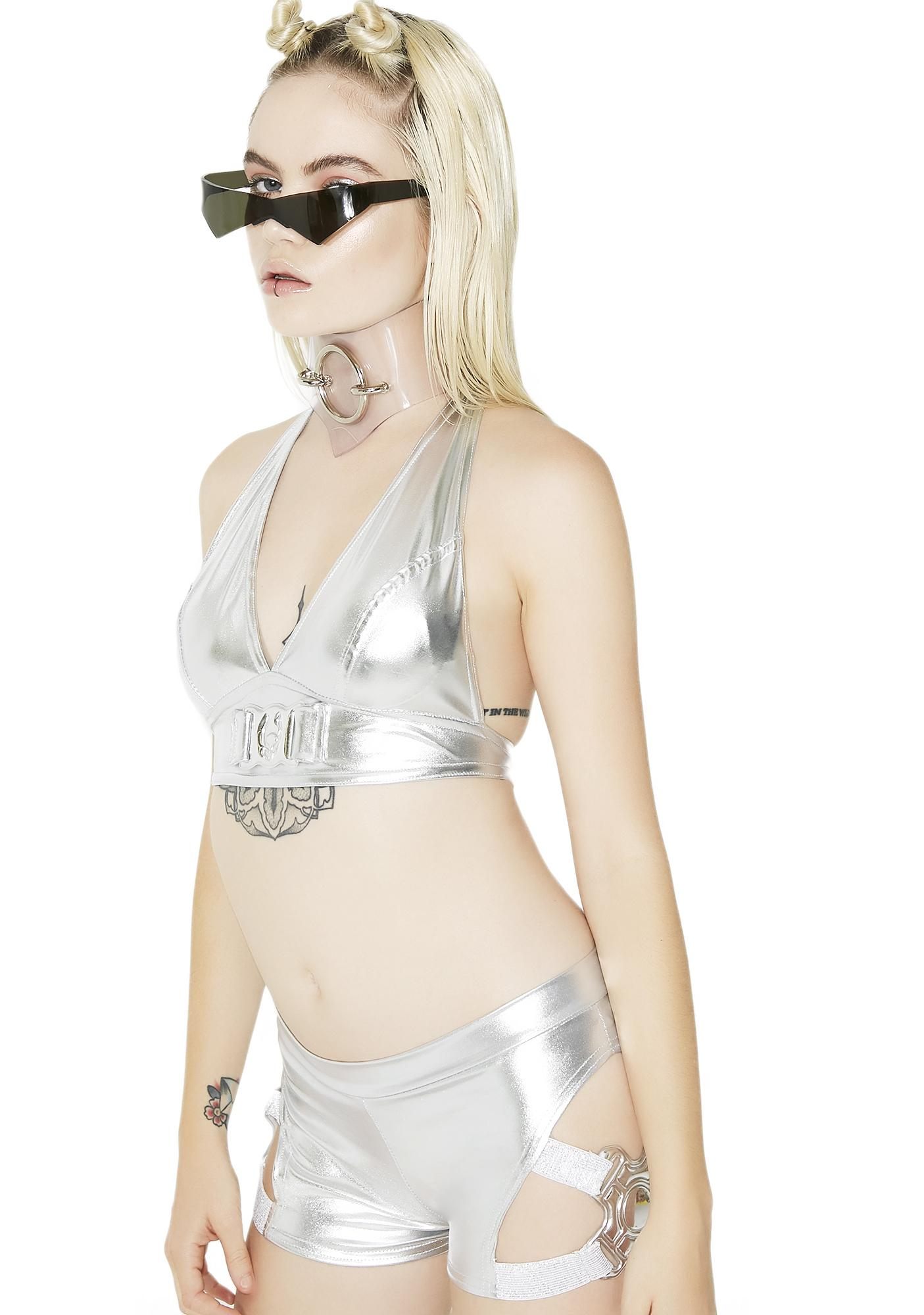 Cyberdog Metallic Safety Bra