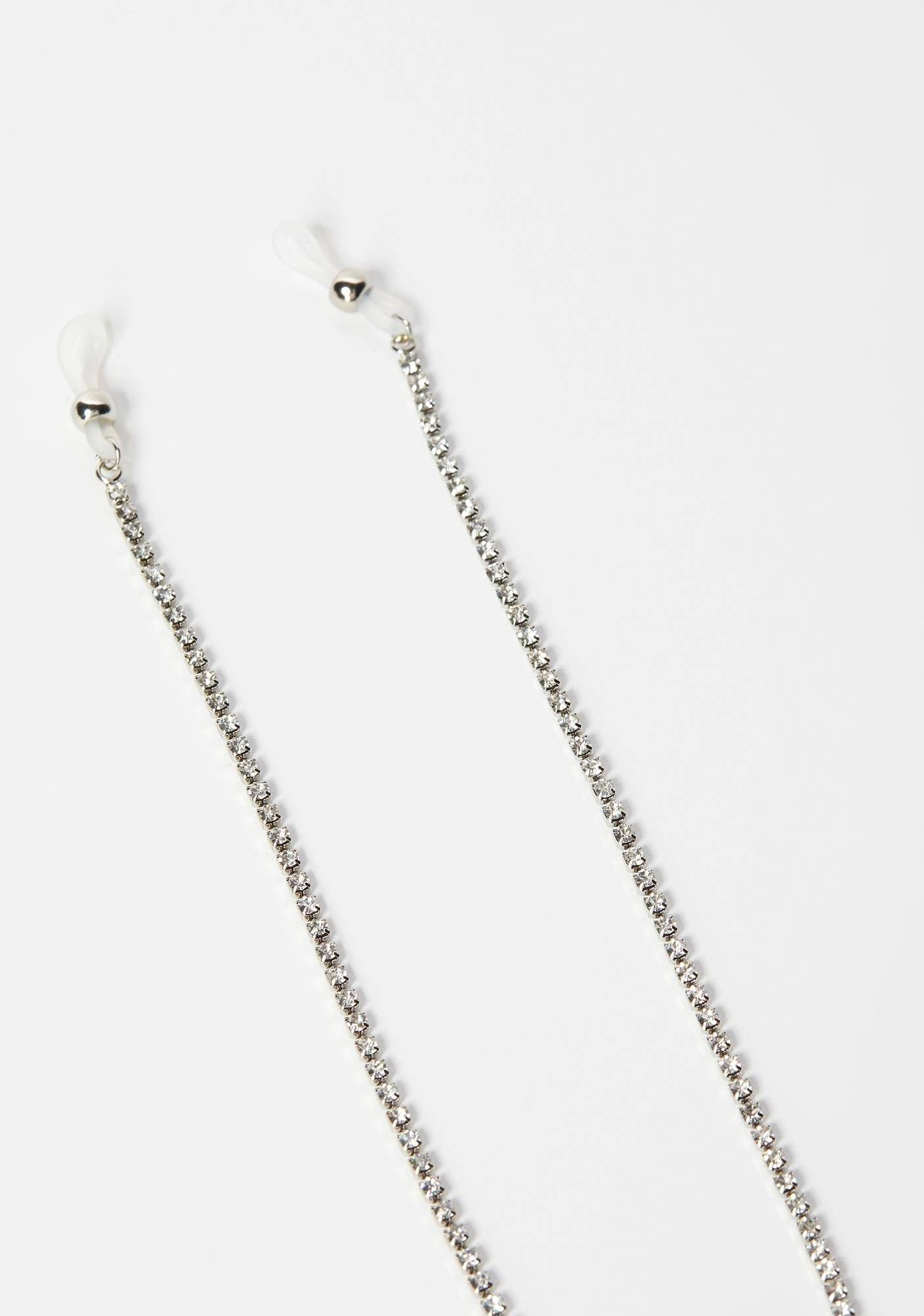 Silver Hang Low Sunglasses Chain