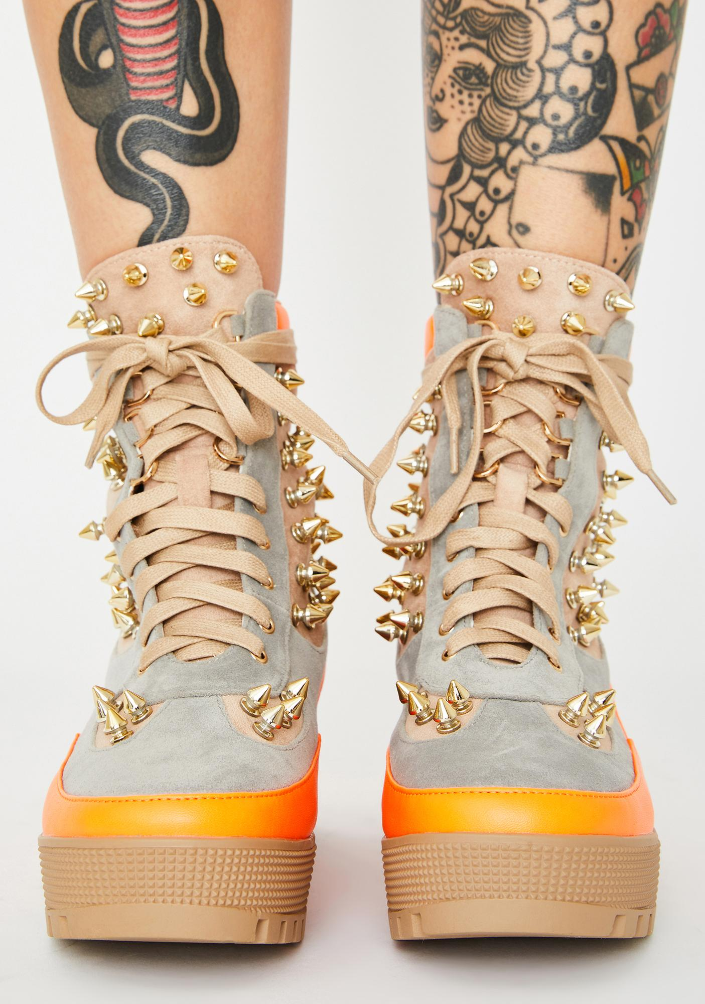 So Feisty Studded Boots