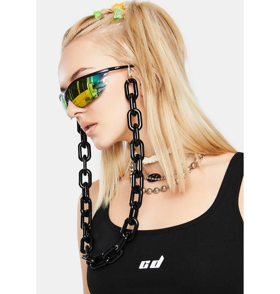 Dark Heavy Topics Sunglasses Chain