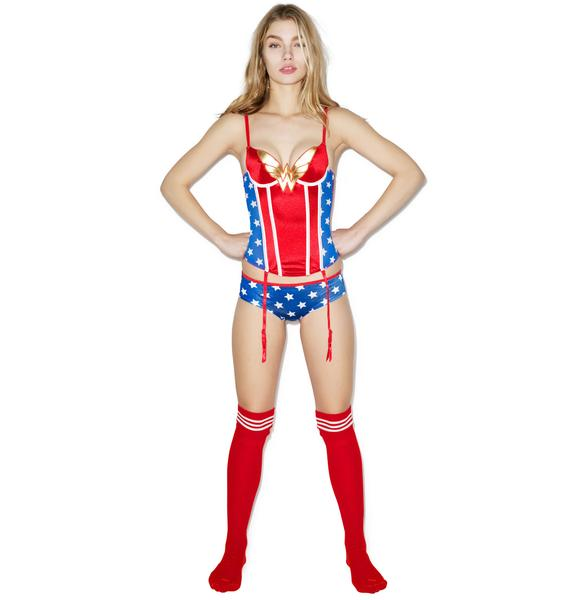 Undergirl Wonder Woman Corset Set