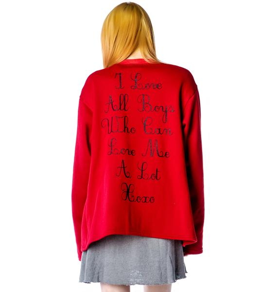 United Couture Love Letter Cardigan