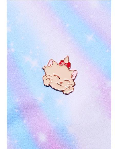 Glad Kitty Lapel Pin