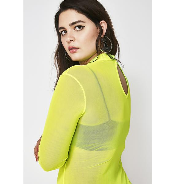 Neon Been Bad Mesh Bodysuit
