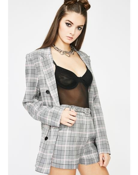 Smoke N' Mirrors Plaid Set