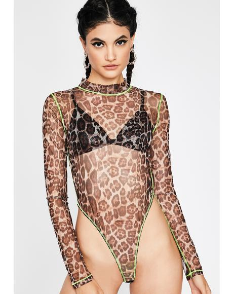 Litty Kitty Leopard Bodysuit