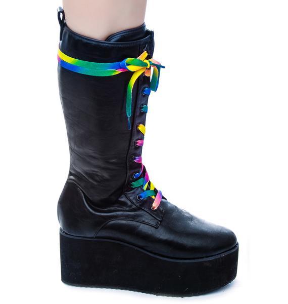 Y.R.U. Bloq Sky High Platform Boots