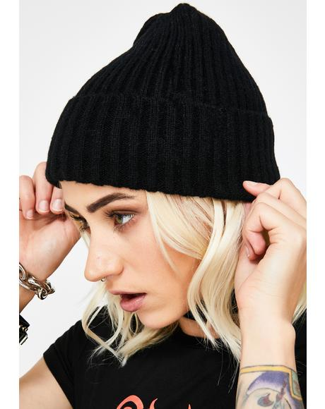 Night Phone On Silent Ribbed Beanie