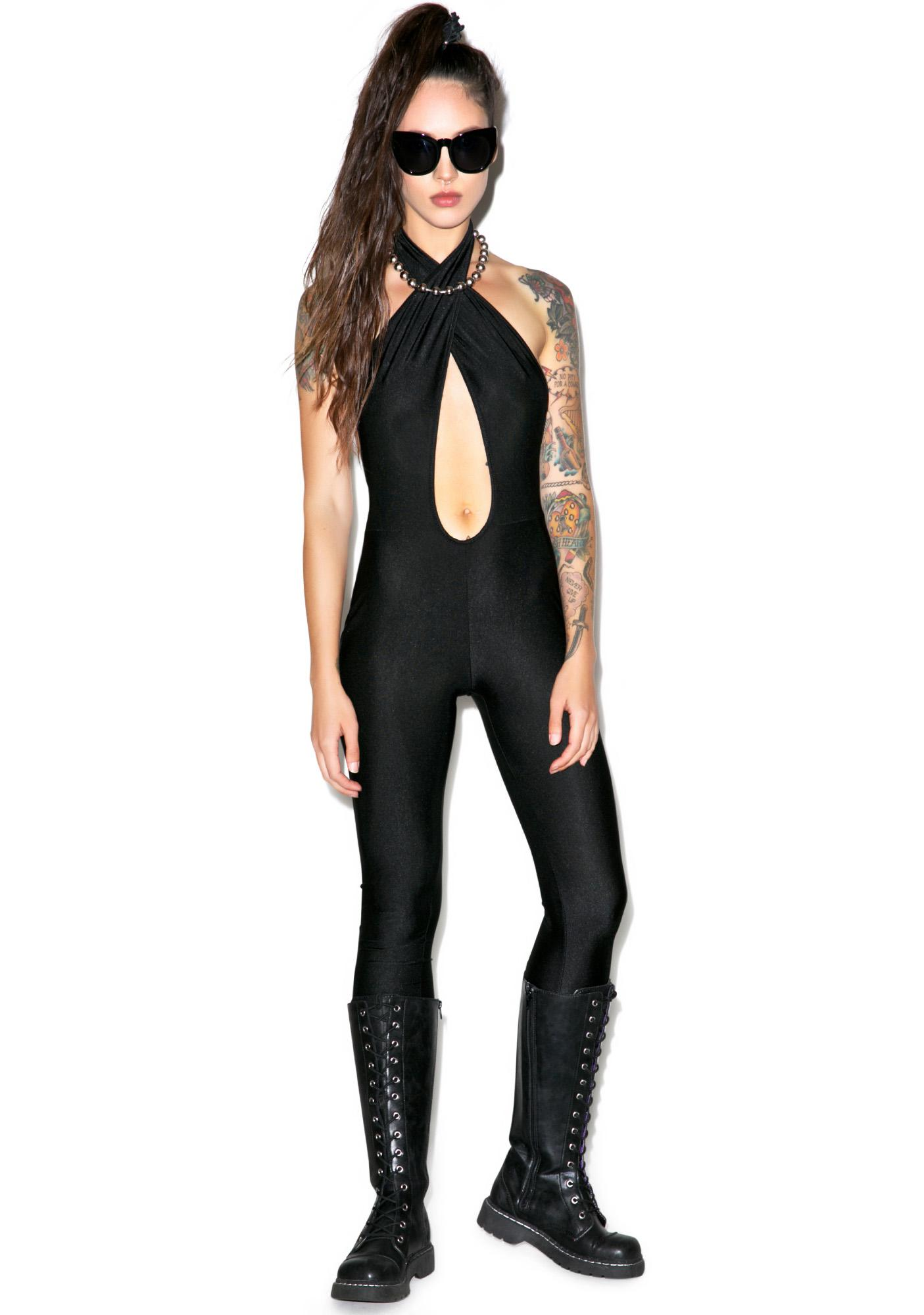 Cross Me Halter Catsuit