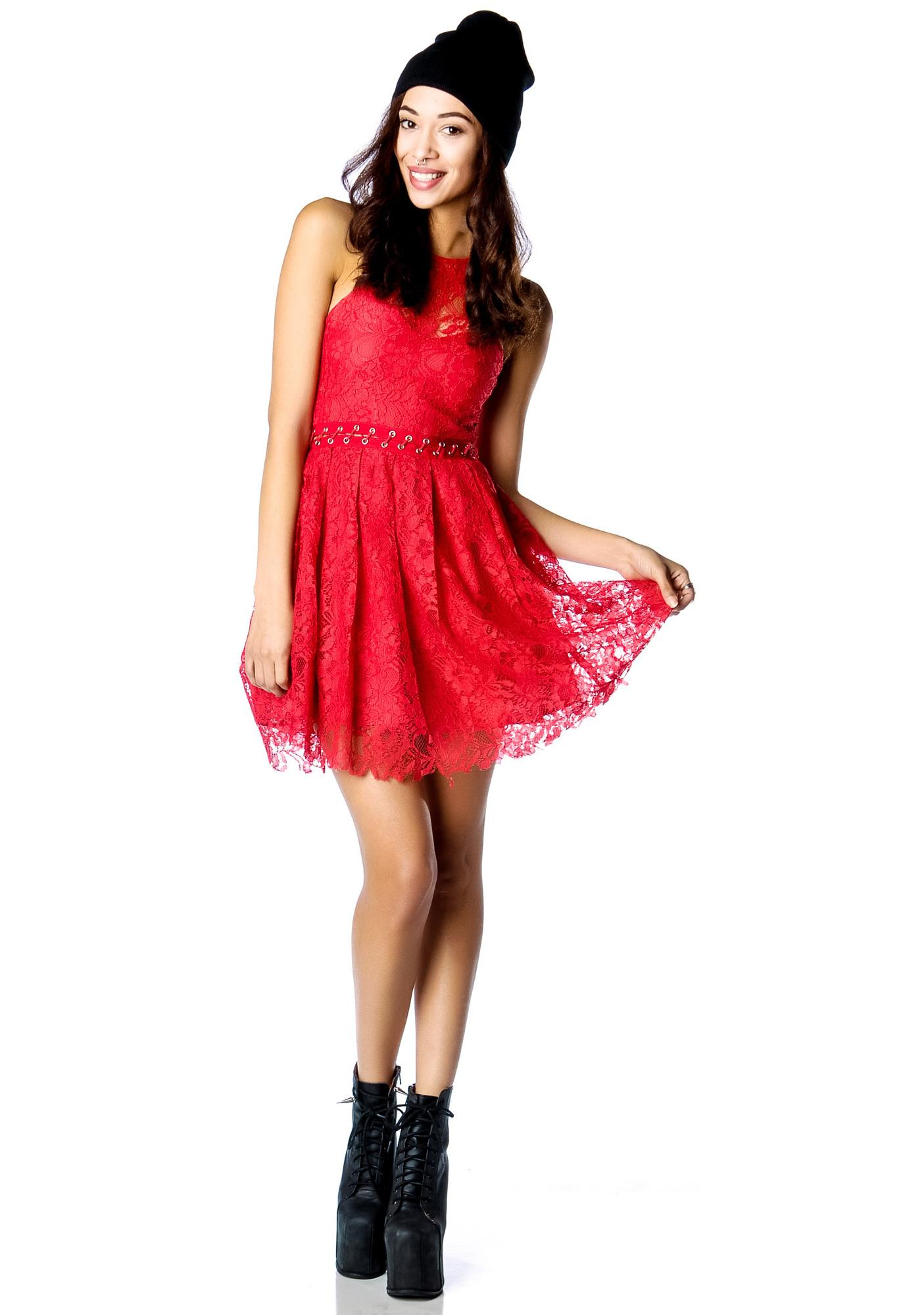 Stylestalker Love Me Do Me Lace Up Dress