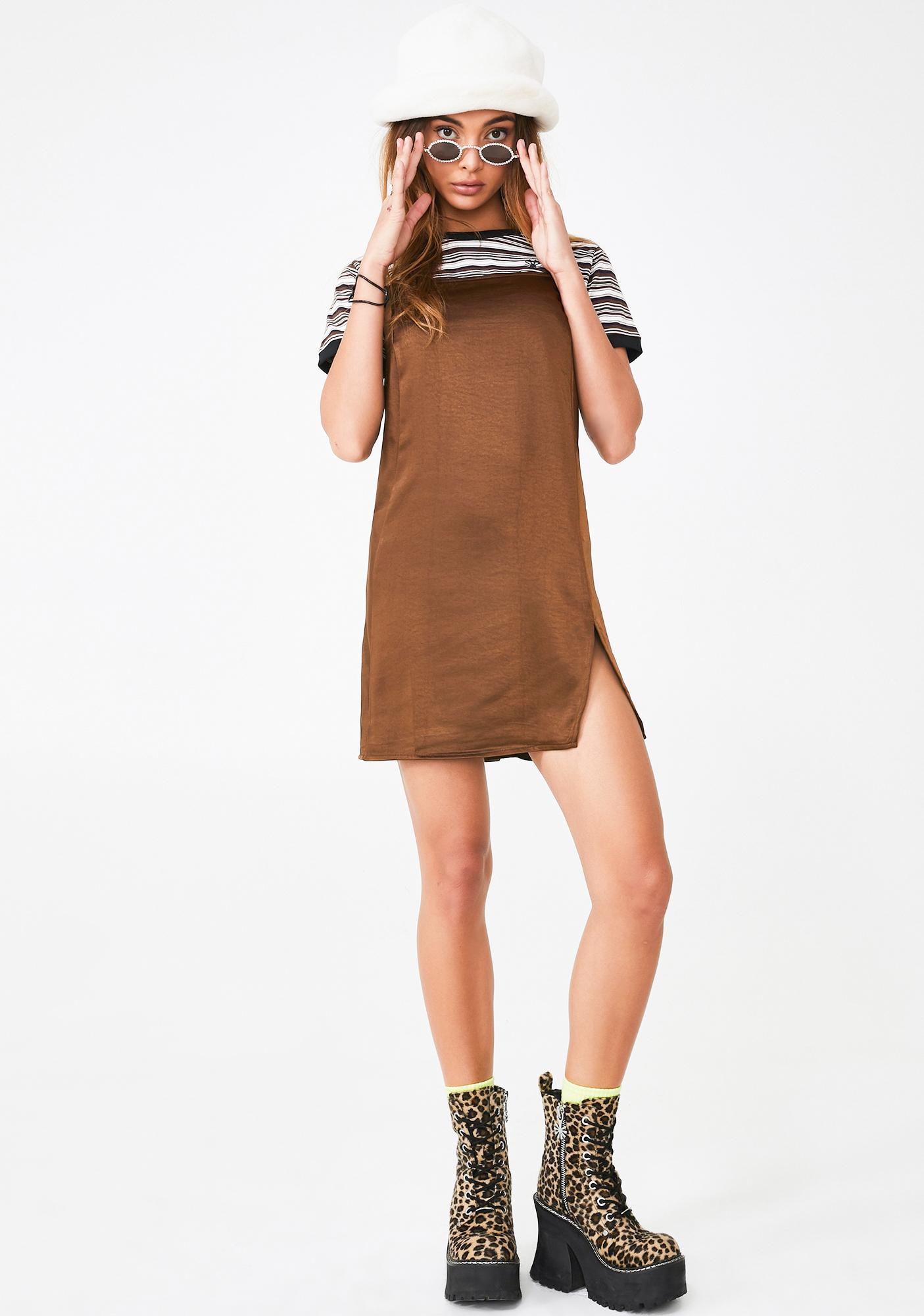 Motel Brown Datista Slip Dress