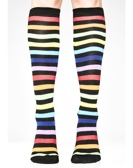 Never Been Kissed Rainbow Socks