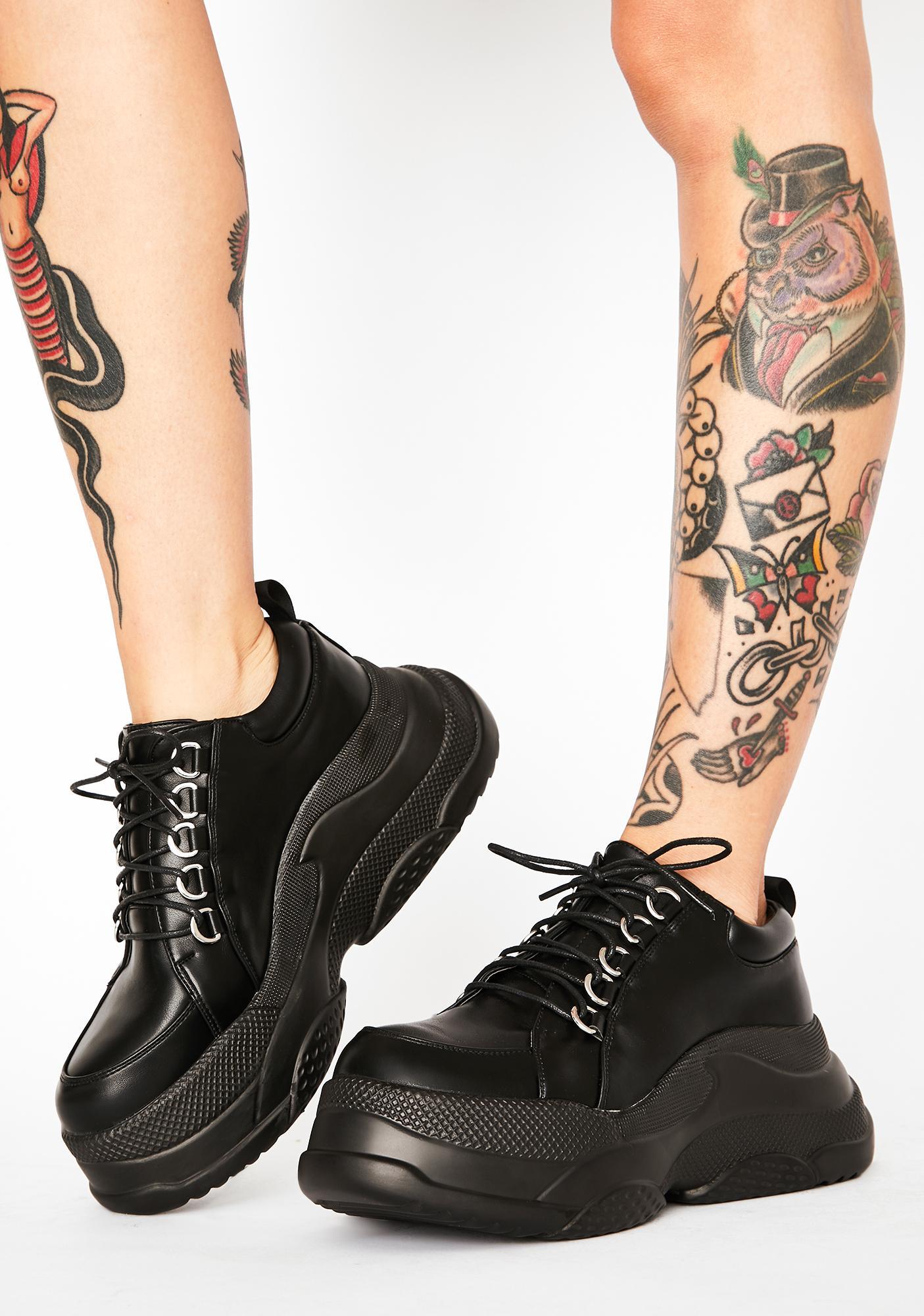 Lamoda Twisted Turn Platform Sneakers