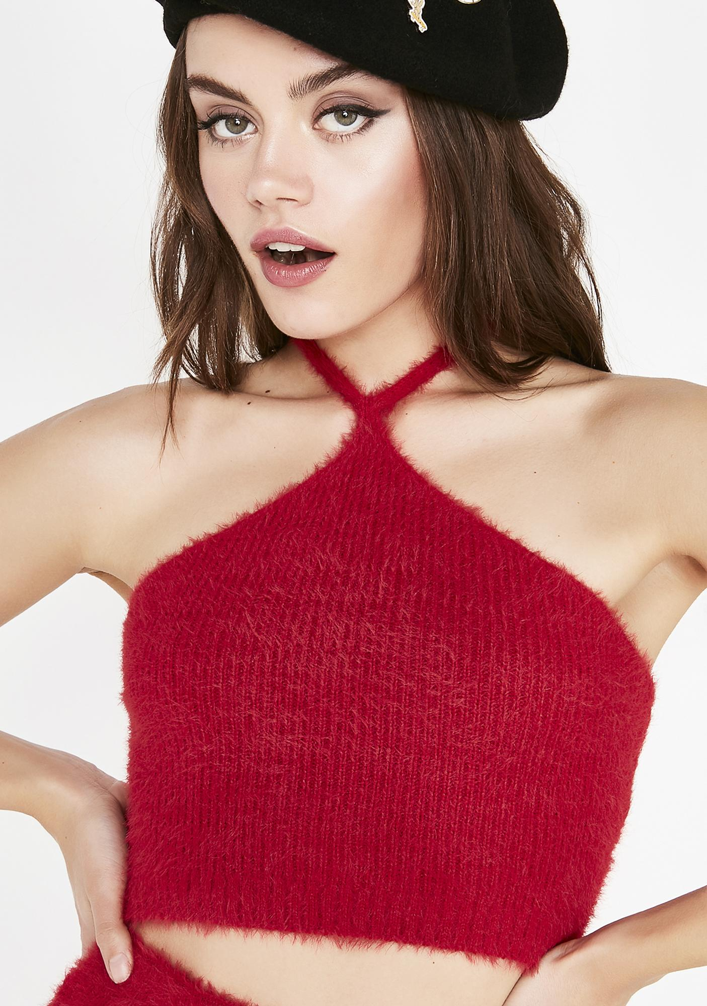 Siren Feelin' Bubbly Fuzzy Halter
