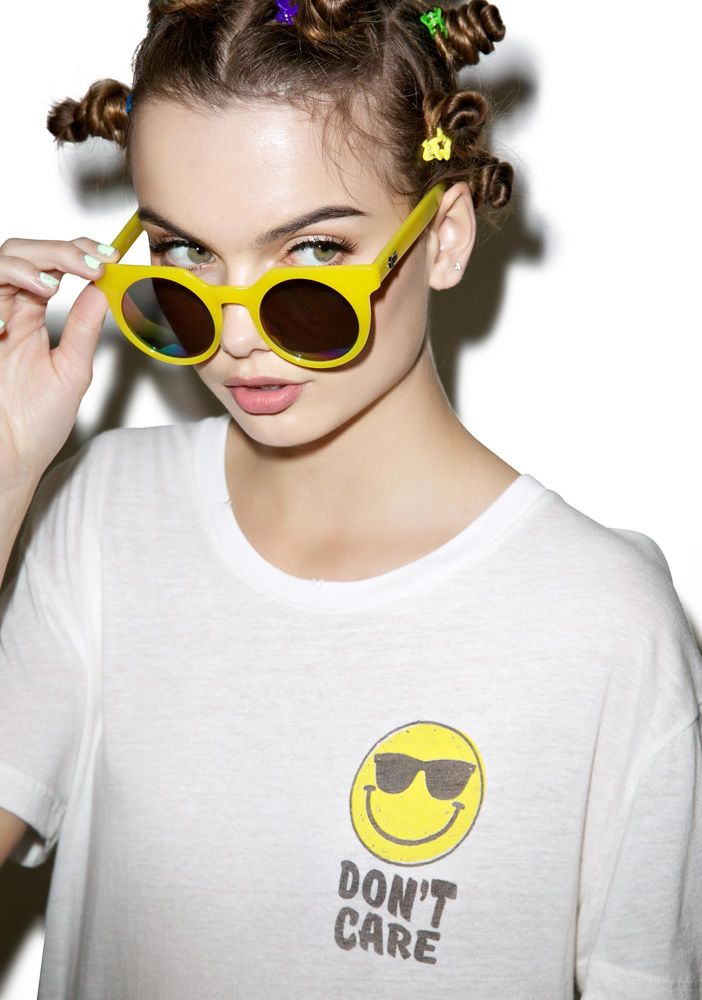 Don't Care Smiley Tee